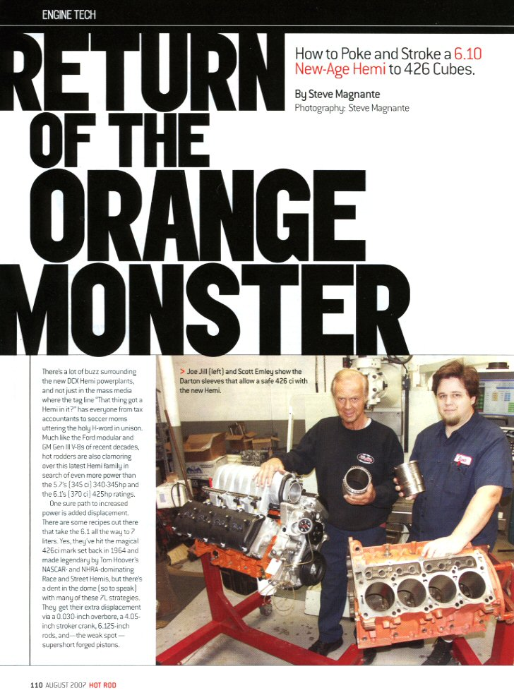 Hot Rod Magazine Article - August 2007
